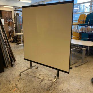Whiteboard på hjul, 150×150 cm